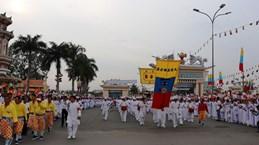 Cérémonie de célébration du 95e anniversaire de la fondation du caodaïsme