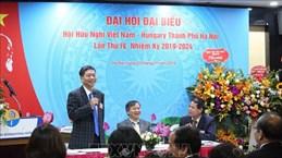 Congrès de l'Association d'amitié Vietnam-Hongrie de Hanoï