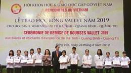 Des élèves et étudiants brillants de la région Centre reçoivent des bourses Vallet