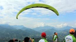 Activités sportives animées à la Semaine culturelle des rizières en terrasse de Hoàng Su Phi