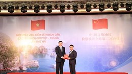 La 2e réunion des Parquets populaires des provinces frontalières Vietnam - Chine