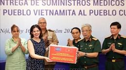 COVID-19 : Le ministère vietnamien de la Défense fait don de fournitures médicales à Cuba