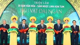 Le PM assiste à une exposition sur les patrimoines et le ginseng de Ngoc Linh de Kon Tum