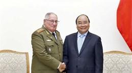 Le PM reçoit un général de corps d'armée cubain