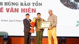 Un deuxième Vietnamien reçoit le titre de Disney Conservation Hero