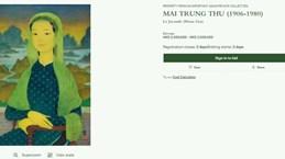 """L'œuvre """"La Joconde"""" du peintre vietnamien Mai Trung Thu mise aux enchères"""