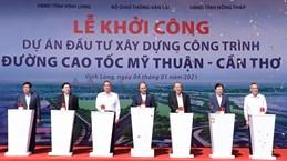 Le PM Nguyen Xuan Phuc lance la mise en chantier de l'autoroute My Thuan - Can Tho
