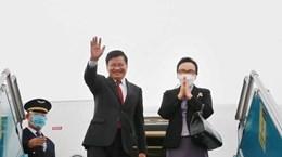 Le SG du Parti et président du Laos en visite d'amitié officielle au Vietnam