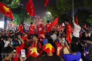 ASIAD 2018 : des milliers des Vietnamiens fêtent la victoire de l'équipe olympique de football