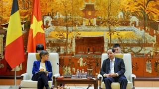 Renforcement de la coopération entre Hanoï et la province belge d'Anvers