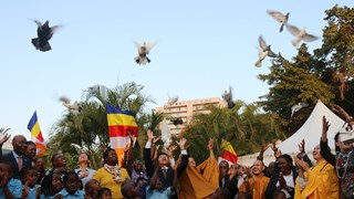 L'Organisation d'une cérémonie de prière pour la paix  au Mozambique