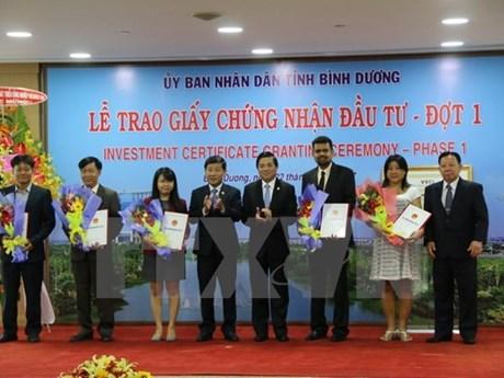 Binh Duong en tête dans l'attrait des capitaux étrangers