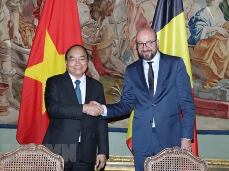 Entretien Nguyen Xuan Phuc et Charles Michel