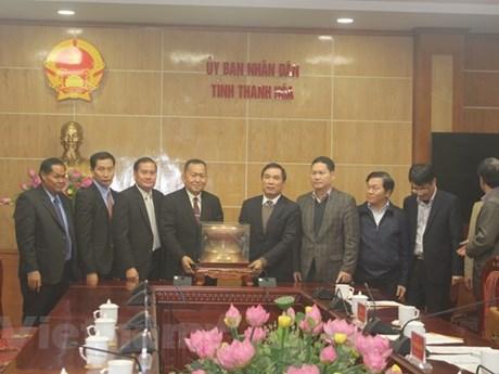 La délégation de l'Agence de presse laotienne se rend dans la province de Thanh Hoa