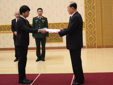 L'ambassadeur vietnamien en RPDC présente ses lettres de créance