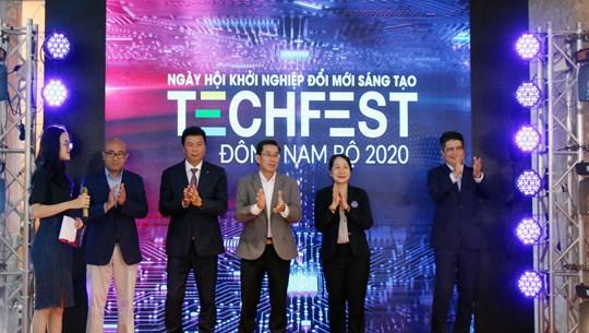 Ouverture de la Journée des start-up et de l'innovation Techfest de la région du Nam Bô orientale