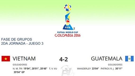 Coupe du Monde de Futsal 2016: première victoire de l'équipe vietnamienne