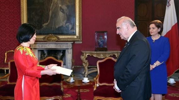 Le Vietnam prend en haute estime la promotion de ses relations avec Malte