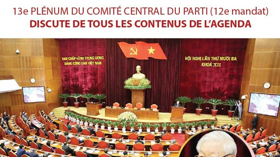 Le13e Plénum du Comité central du Parti discute de tous les contenus de l'agenda