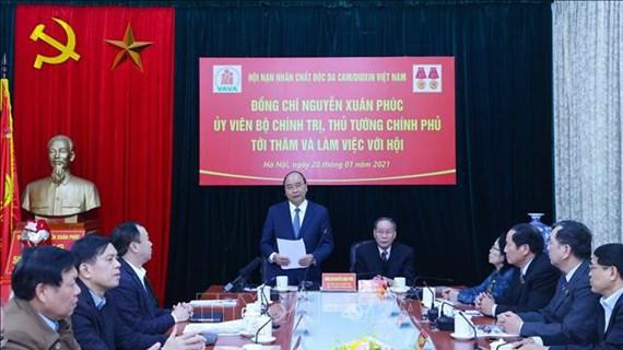 Nguyên Xuân Phuc veut multiplier les actions en faveur des victimes de l'agent orange