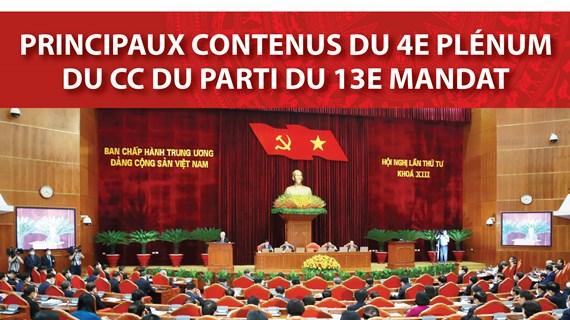 Principaux contenus du 4e Plénum du CC du Parti du 13e mandat