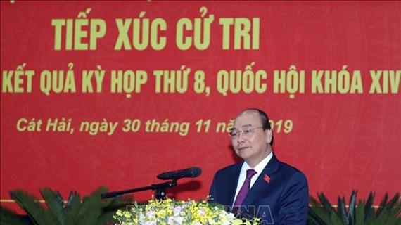 Le Premier ministre Nguyên Xuân Phuc rencontre l'électorat de Hai Phong