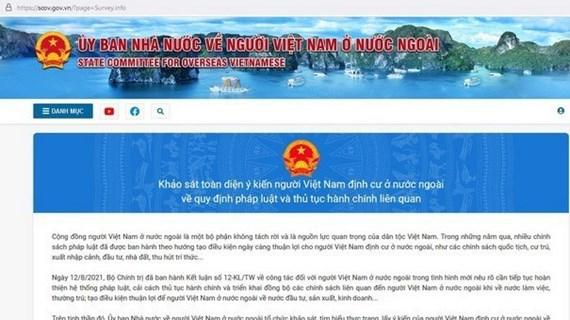 Le site web du Comité d'État chargé des Vietnamiens à l'étranger voit le jour
