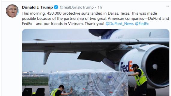 Donald Trump remercie le Vietnam d'avoir soutenu les États-Unis contre la pandémie de COVID-19