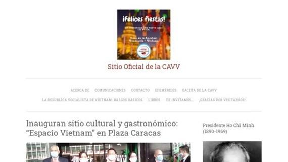 Lancement du site web de l'Association d'amitié Venezuela-Vietnam