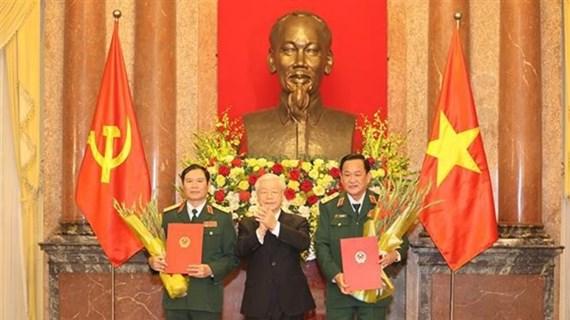 Deux vice-ministres de la Défense promus au grade de général de corps d'armée