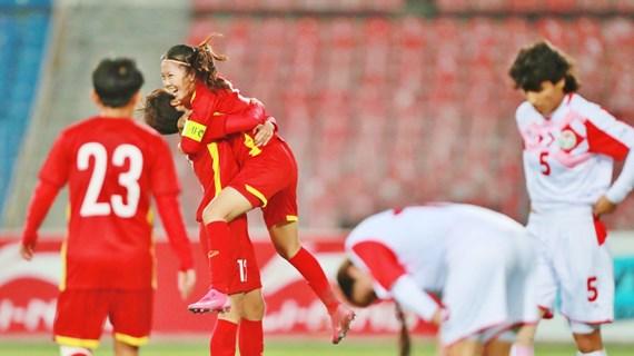 Coupe d'Asie féminine 2022 : la victoire 7 - 0 contre le Tadjikistan envoie le Vietnam en finale