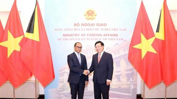 Vietnam – Timor-Leste : entretien entre les chefs de la diplomatie