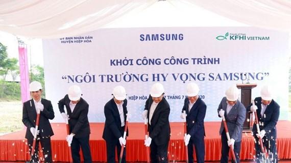 Samsung Hope School au profit des élèves démunis de Bac Giang