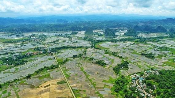 Paysage naturel paisible dans un village de la minorité ethnique Muong à Hoa Binh