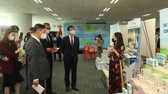 Ouverture de la Vietnam National Brands Week 2021 à Singapour