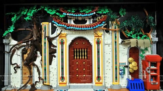 Scènes typiques du Vietnam recréées avec des pièces de Lego
