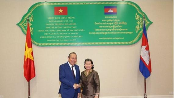 Le vice-Premier ministre Truong Hoa Binh en visite au Cambodge