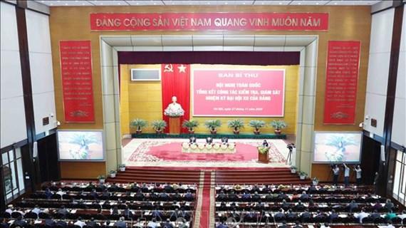 Conférence nationale sur le travail de contrôle et de supervision du Parti