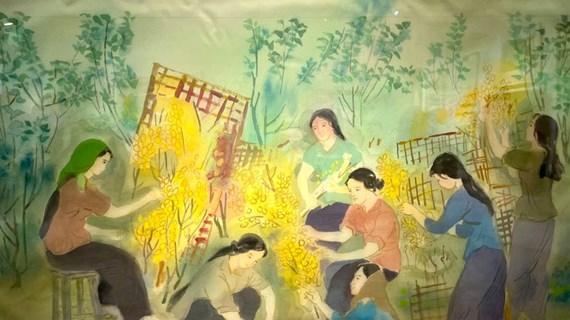 """Hanoï : """"Empreintes de 2021"""" présente des œuvres de peintres seniors"""