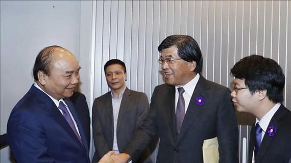 Le Premier ministre Nguyen Xuan Phuc arrive à Tokyo, au Japon