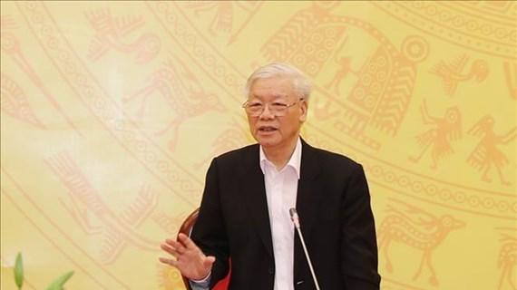 Le dirigeant Nguyen Phu Trong apprécie les résultats remarquables obtenus par la Police en 2019
