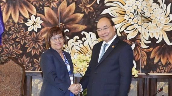 Le Vietnam prend en haute considération les relations avec Marshall et la Guyana