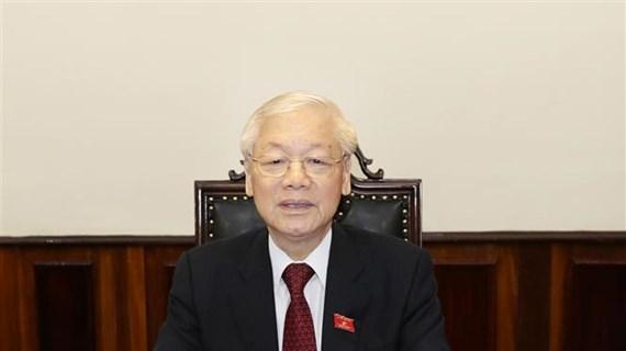 Le SG et président Nguyen Phu Trong appelle les Vietnamiens à s'unir contre le COVID-19