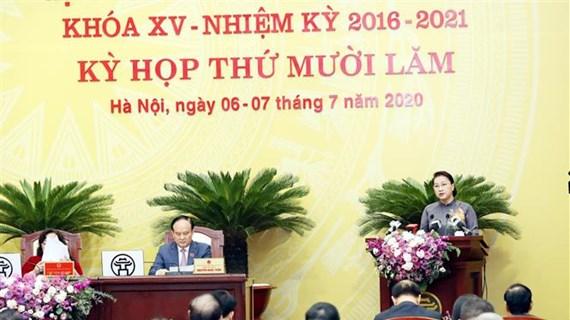 La présidente de l'AN salue les efforts de développement de Hanoi