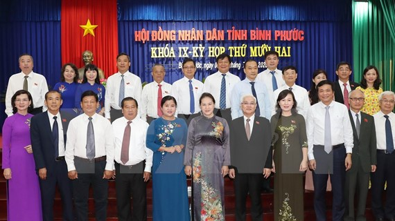 La présidente de l'AN exhorte Binh Phuoc à favoriser ses atouts pour la croissance économique