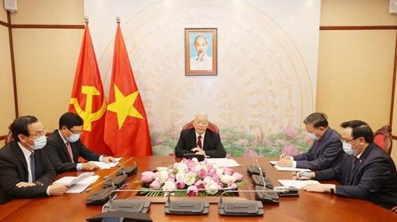 Vietnam-Laos : entretien entre Nguyên Phu Trong et Bounnhang Vorachith