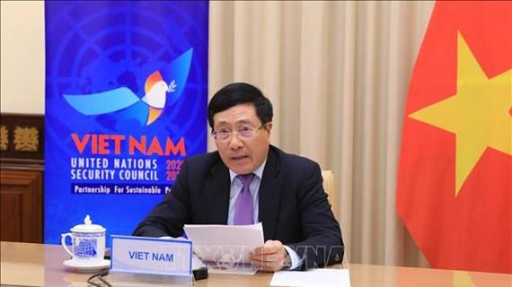 Le vice-PM et ministre des AE Pham Binh Minh au débat sur la coopération ONU-Union africaine