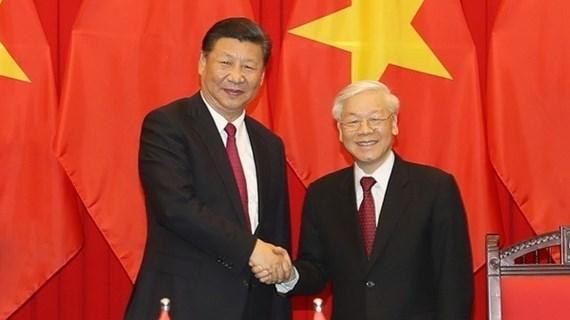 Félicitations des 71 ans de l'établissement des relations diplomatiques Vietnam-Chine