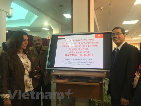 La Journee de la culture vietnamienne s'ouvre a Damietta, en Egypte hinh anh 1