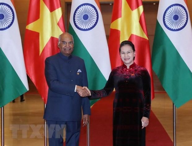 Entrevue entre la presidente de l'AN et le president indien hinh anh 1